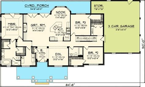 ranch floor plans with bonus room plan 89821ah 3 bedroom rambling ranch house plans