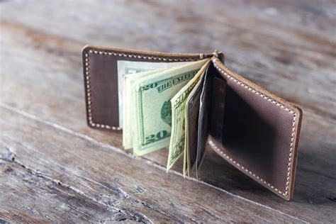 Handmade Leather Money Clip Wallet - money clip wallet handmade leather joojoobs original design