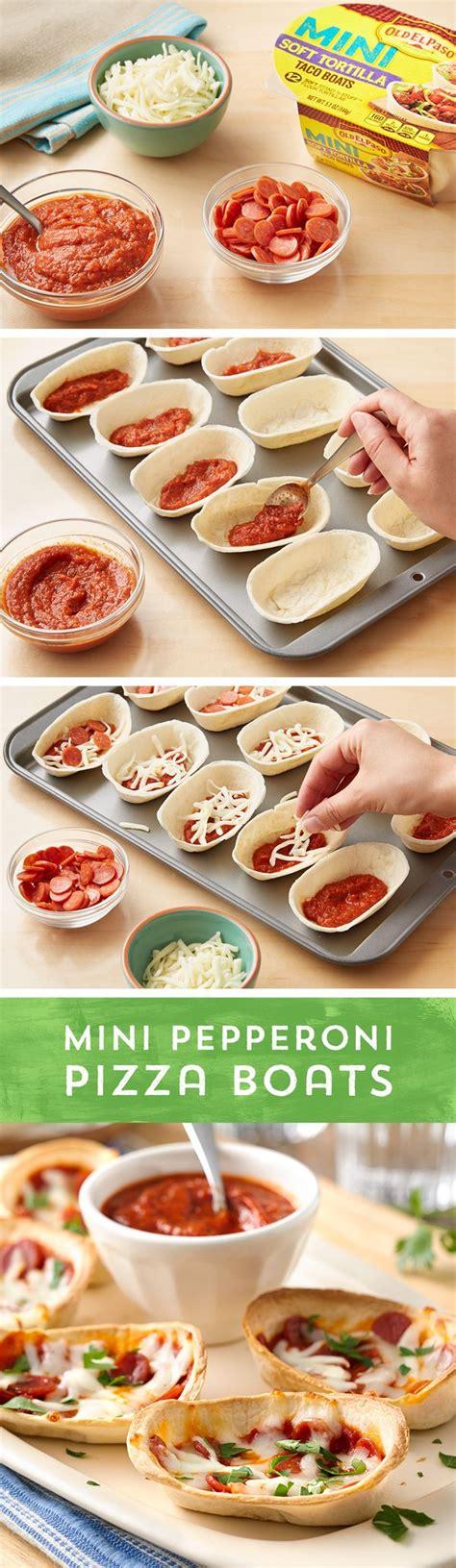 mini taco boats calories mini pepperoni pizza boats
