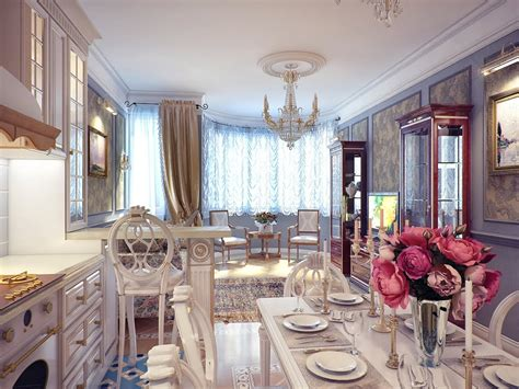 Kitchen With Dining Room Designs Classical Kitchen Dining Room Decor Interior Design Ideas