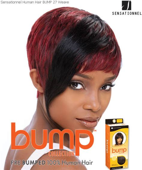 short bump weave hairstyles 27pcs sensationnel bump