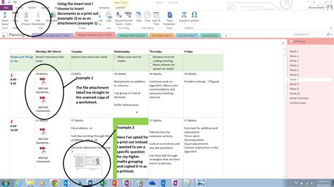 daily planner template onenote onenote as a planning tool miss marks blogs