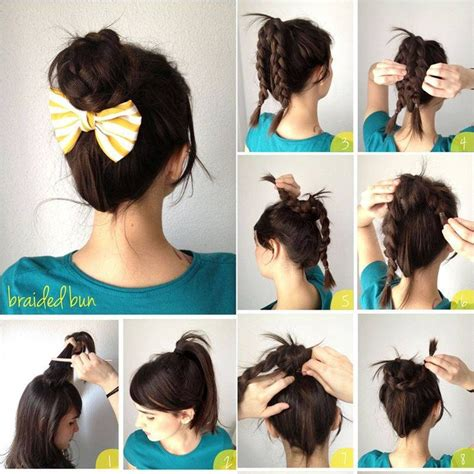easy buns hairstyles step by step a simple hairstyle messy french twist pinterest