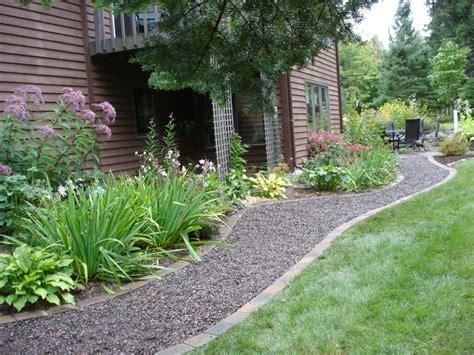 garden walkway ideas landscape ideas using gravel forms loose gravel walkways