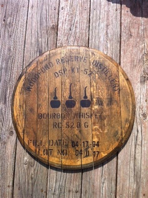 woodford reserve bourbon whiskey bourbon barrel head lid