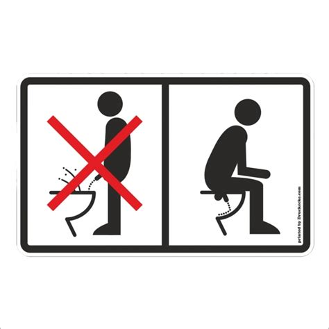 Toiletten Aufkleber Shop by Toiletten Aufkleber Quot Nicht Im Stehen Pinkeln