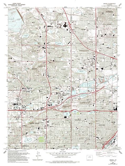 arvada colorado usa map arvada topographic map co usgs topo 39105g1