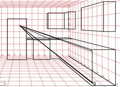Kitchen Design Layout Template perspective amp isometric drawing