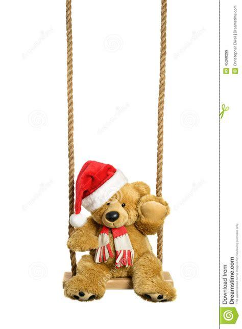 Swinging Teddy Bear Stock Photo Image 45268299