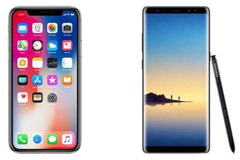 Handphone Samsung Dan Iphone inilah perbandingan iphone x dan samsung galaxy note 8