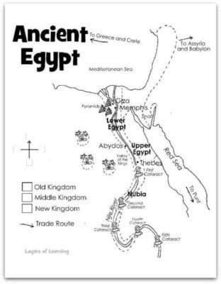 Map of Ancient Egypt - Layers of Learning