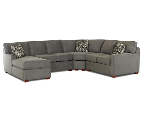 left arm facing sectional klaussner selection contemporary l shaped sectional sofa