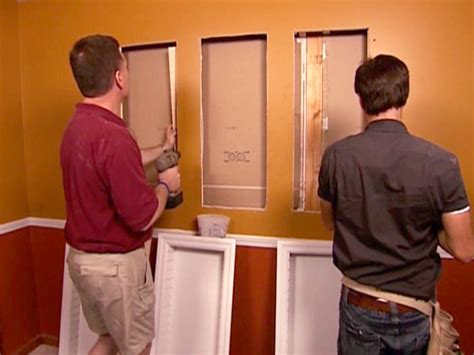 recessed wall cabinet between studs how to install recessed shelving how tos diy