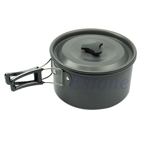 portable outdoor cing cookware backpacking cooking picnic bowl pot pan set ebay