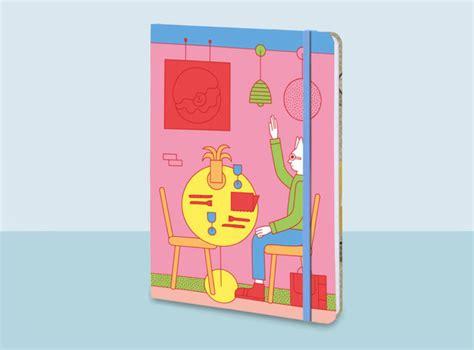 design milk notebook illustrators join together to create bookblock notebooks