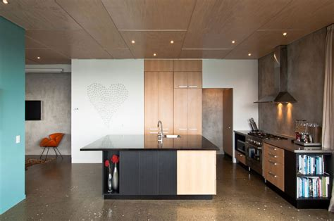 Kitchen Island, Hillside Home in Wellington, New Zealand