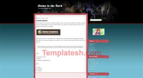 free blogger themes dark anime dark blogger template templatesh