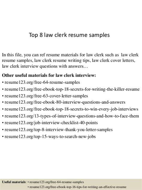 Law Clerk Resume Sample – Job description law clerk resume