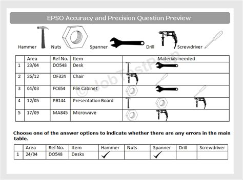 epso test epso accuracy and precision test for assistant level