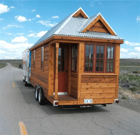 the 130 square foot quot fencl quot tiny house being pulled by a new video from the tumbleweed tiny house company small