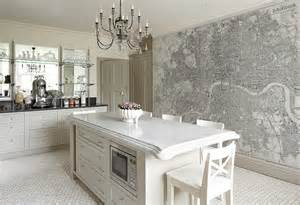Wallpaper Ideas For Kitchen Custom Printed Map Wallpaper Murals Contemporary
