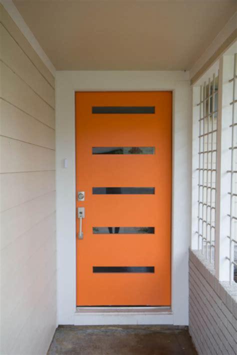 Gallery For Gt Modern Front Door Orange Orange Front Door