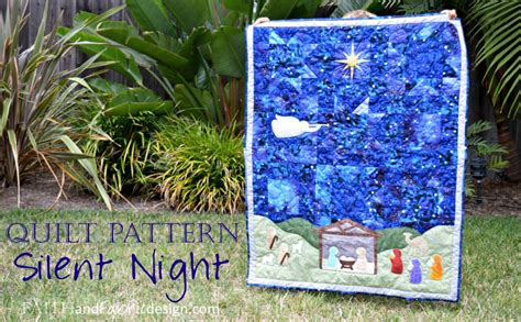 Nativity Quilt Patterns by Pattern Silent Quilt Pattern A Nativity