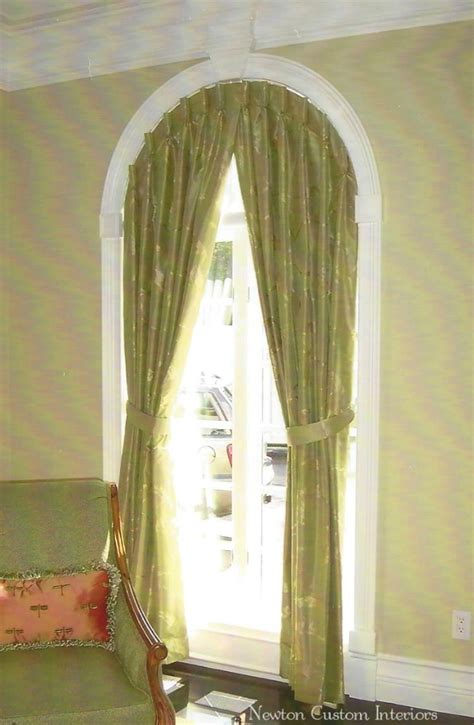 curtain rods for arched shaped windows what to do with an arched window newton custom interiors