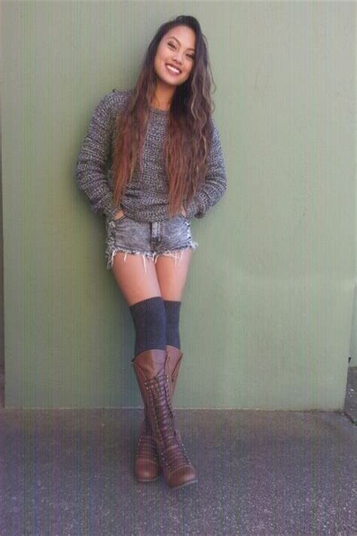 sock boots f21 gray h m socks brown boots gray black grey f21 sweaters quot gray f21 sweater