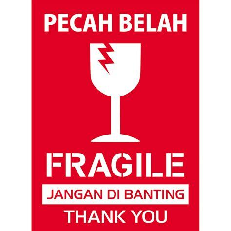 Tas Paket 5in1 165 000 stiker pengiriman fragile awas pecah belah shopee indonesia