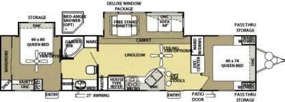 2 bedroom rv floor plans two bedroom travel trailers marceladick com