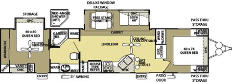 2 bedroom rv floor plans 2 bedroom 2 bath rv for sale html autos post