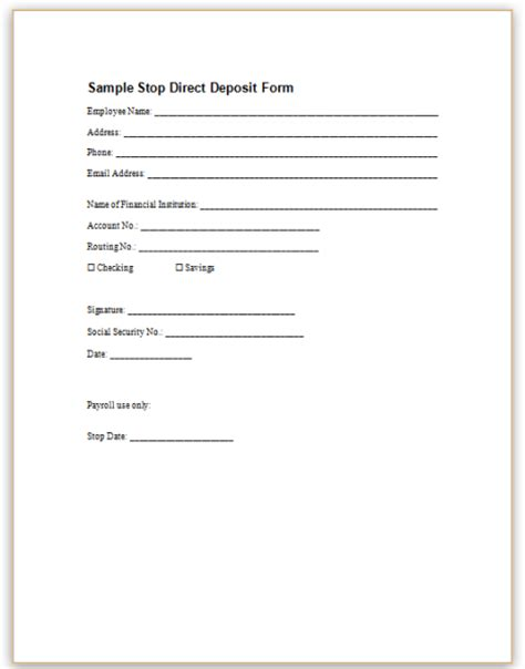 bank direct deposit authorization form oyle kalakaari co