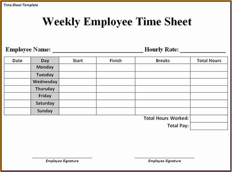 Docs Payroll Template 5 Payroll Timesheet Template Simple Salary Slip