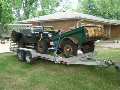 jeep hauling trailer my trailer triton ut16 5 hauling our 1948 willys cj 2a