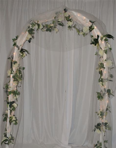 Wedding Arbor With Tulle by Wedding Arches Related Searches For Lighted Wedding Arch