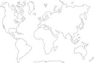 World Map Continent Outline by Continents Map Coloring Pages And Print For Free