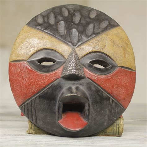 Handcrafted Masks - fiancee tribal mask carved wood arts ebay