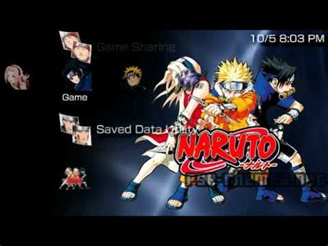 themes naruto psp psp theme another naruto theme psp themes net youtube