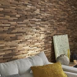 plaquette de parement bois recycl 233 marron boho leroy merlin