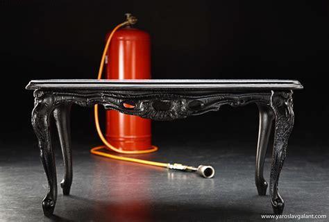 Burnt Wood Furniture by Charred Wood Furiture By Yaroslav Galant