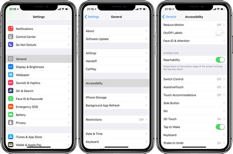 iphone options how to use reachability on iphone x