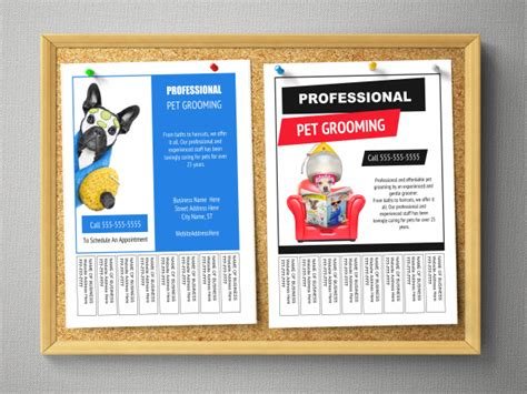templates for bulletin boards pet grooming bulletin board flyer templates