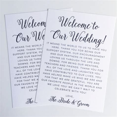 welcome bag letter template beautiful destination wedding welcome letter template
