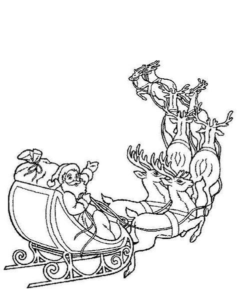 Coloriage traineau du Père Noël à imprimer gratuitement