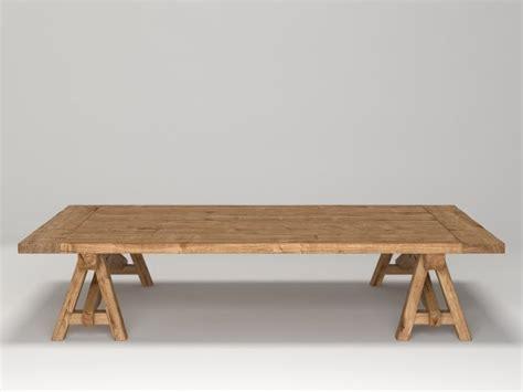 Sawhorse Coffee Table Benson Sawhorse Coffee Table 3d Model Restoration Hardware