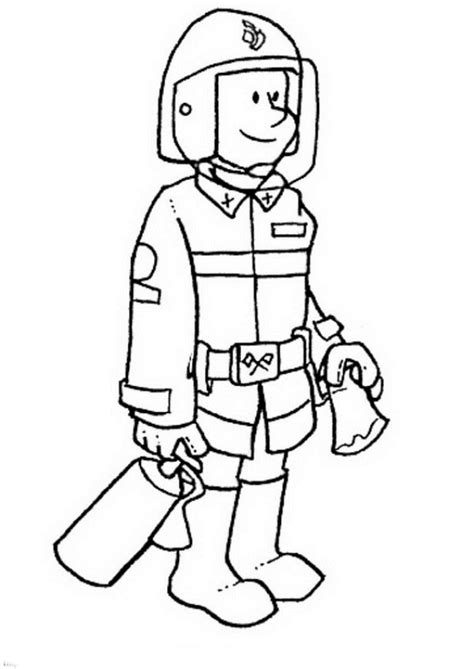 Fireman Coloring Pages Coloringpages1001 Com Fireman Coloring Pages