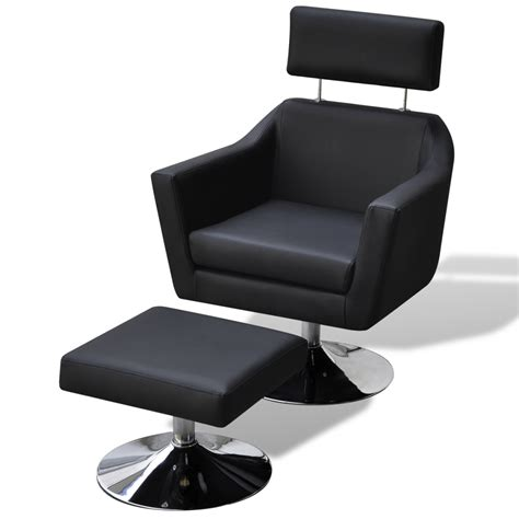 vidaxl tv armchair artificial leather black www vidaxl