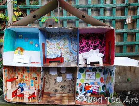 dolls house diy 20 cardboard box craft ideas red ted art s blog