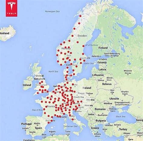 Tesla Supercharger Europe Map Tesla Supercharger Network Grows In Europe Asia